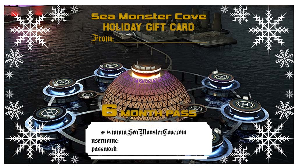 Sea Monster Cove Gift Card - 6 Month